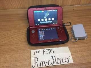 New Nintendo 3DS XL US Metallica Red IPS top screen