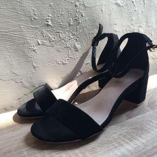 🚚 Airspace 性感金屬踝扣小跟鞋黑色
