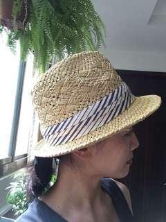 🚚 編織帽 紳士帽 附帽緣帶 休閒帽 遮陽帽