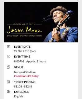 Good Vibes with Jason Mraz Concert Tickets