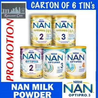 PROMOTION Nestle Nan OPTIPRO 2 /3 /4 H.A. 2 & 3 x 6 Tin' INCLUDING FREE DELIVERY 📦