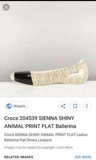 Crocs sienna shiny snake print doll shoes