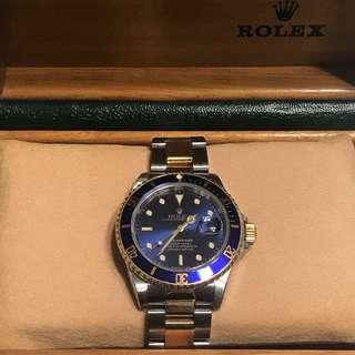 Rolex Submariner 16613 Blue Dial