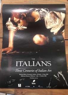 "Poster: ""the Italians"" art exhibition"