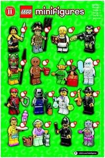 Complete Set Lego minifigures series 11