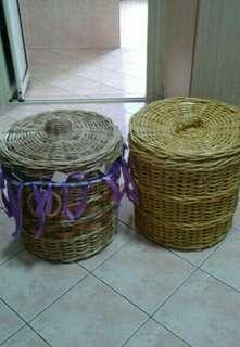 Rm 120 both rottan baskets