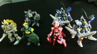 Lbx gachapon figures