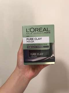 l'oréal pure clay mask detoxifies and brightens