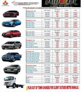 Mitsubishi all-in low deals promo