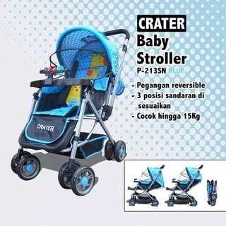 Stroller hadap Ibu Crater
