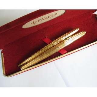 Parker 75 Perlé 22K GP Fountain Pen & Ballpoint Pen Set ~ 派克 75 Perlé 墨水筆&原子筆套裝