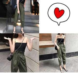 HighWaist Army Green Trousers