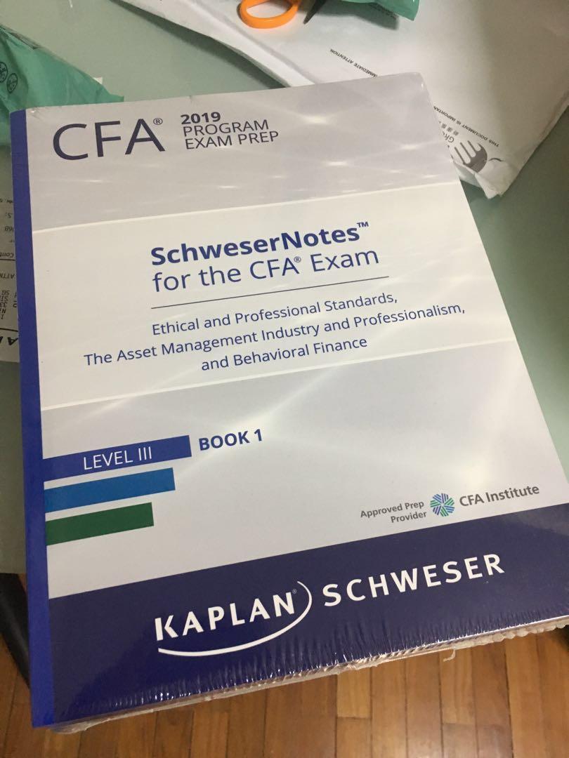 2019 CFA Level 3 Schweser Book, Books & Stationery
