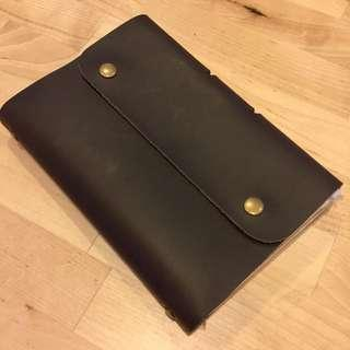 (last piece!) A6 Leather Organiser/Notebook/Diary