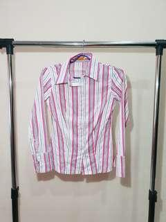 Pink White Stripe
