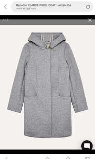 Babaton (Aritzia) Grey Wool Coat - Size S