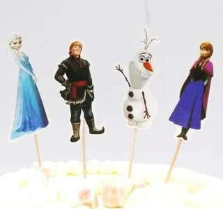 Frozen Cupcake Cake Jelly Toppers Pick Party Birthday Baby Decoration