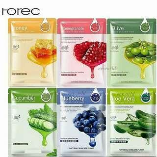 Rorec Natural skin care mask (masker)  Manfaat Rorec Blueberry 86%: