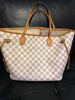 Louis Vuitton LV neverfull damier Azur MM