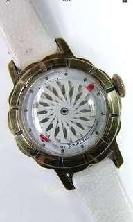 🚚 Vintage BOREL Swiss Cocktail Watch. Wind-up Ladies. MYSTERY DIAL 10K Gold 20 mic.