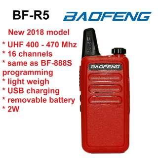 🚚 2018 model! BAOFENG BF-R5 red Mini Portable two way radio UHF 400-470MHz travel convoy shopping walkie talkie transceiver