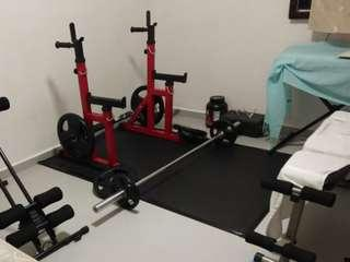 Gym Equipment Set - Free rack