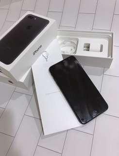 IPhone 7puls 128G霧黑附盒+原廠豆腐頭
