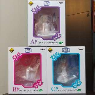 Rem, Ram, Emilia Ichiban Kuji Figures