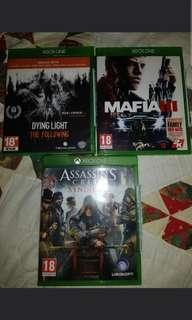 XBOX ONE GAMES assassins creed/dying light/mafia 3