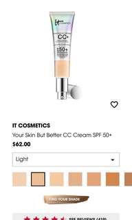 BNIB IT Cosmetic cc cream