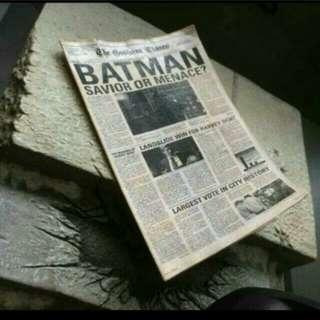 1/6 scale toys batman gotham times newspaper