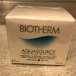 Biotherm Aquasource Rich Cream 晚霜