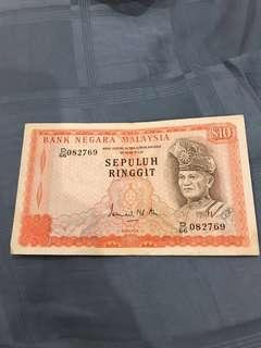 RM10 malaysia old note