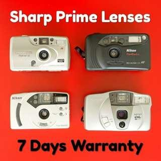 P&S 35mm Film Cameras Sharp Lens