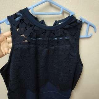 Lace Navy Jumpsuit