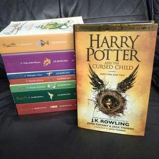 Pre - Loved Harry Potter Book Full Set by J.K. Rowling [Paperback & Hardcover]