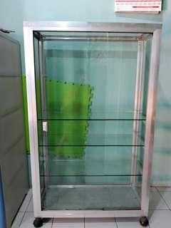ALUMINUM AND GLASS CABINET