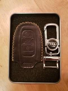 Audi Type B leather key cover
