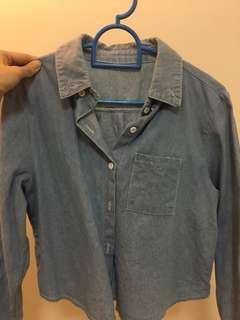 Old school denim blue jacket