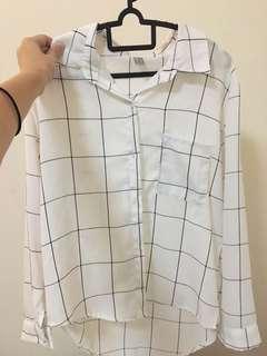 White Grid Shirt