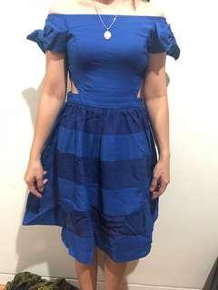 preloved dress blue sabrina