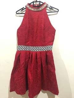 preloved dress red