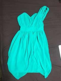 Turquoise toga cocktail dress