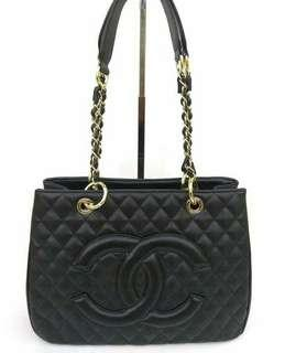 Chanel cavier tote made in france with seri n holo