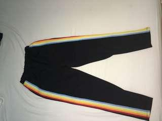 Rainbow stripe pants