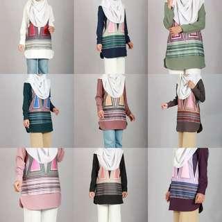 ZERA PRINTED BLOUSE 2018 baju top peplum dress long instant jubbah abayah