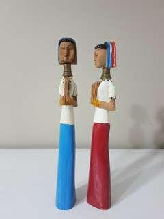 Long Neck Hill Tribe Figurines