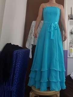 Turquoise blue gown