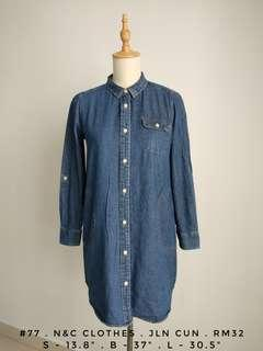 Denim long shirt Blouse dress