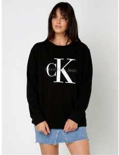 Calvin Klein black logo sweatshirt/ brand new with tags/ size small
